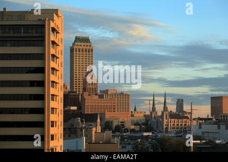 Tulsa, Oklahoma, Skyline at Sunrise - Stock Photo