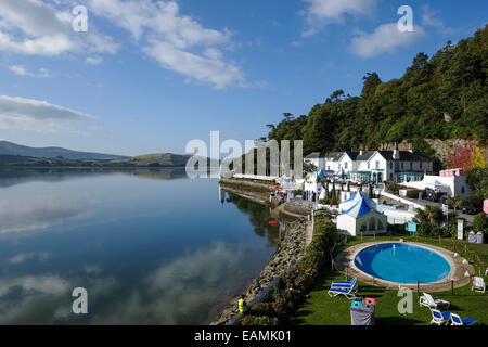 Atmosphere during Festival No. 6 on 07/09/2014 at Festival No. 6, Portmeirion Hotel. Picture by Julie Edwards - Stock Photo