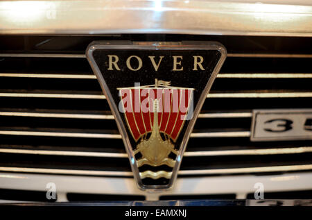 Rover p6 3500 badge detail classic car at the 2014 NEC classic car show - Stock Photo