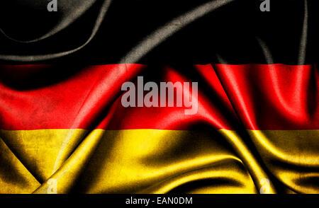 Flag of the Federal Republic of Germany. Bundesrepublik Deutschland - Stock Photo