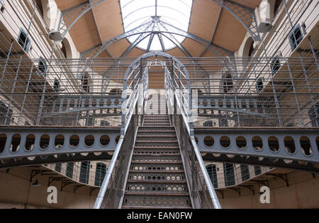 Dublin, Ireland - Aug 14:Interior of Kilmainham Gaol in Dublin, Ireland on August 14, 2014 - Stock Photo