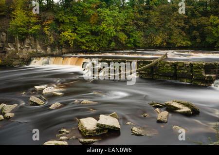 Richmond Waterfalls in North Yorkshire - Stock Photo