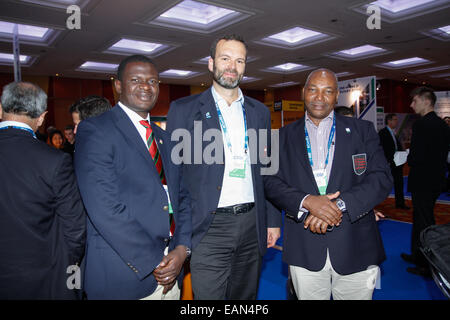 London, UK. 18th November 2014. Eddie Omondi, Kenya Rugby Union Hon. Secretary & Head of Administration and Disciplinary - Stock Photo