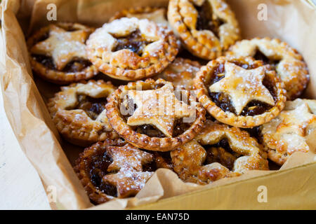 Traditional Christmas mice pies - Stock Photo