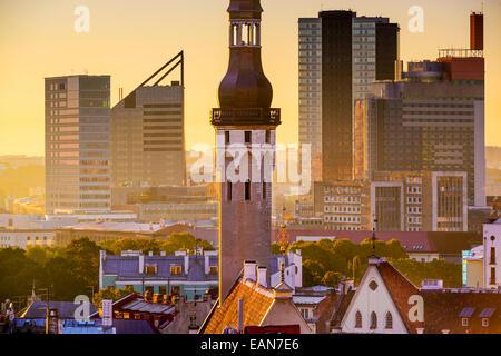 Tallinn, Estonia cityscape in the morning. - Stock Photo