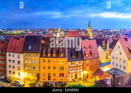 Nuremberg, Germany old city skyline. - Stock Photo