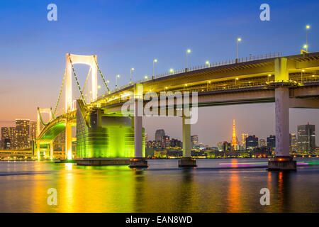 Tokyo, Japan at Tokyo Bay. Stock Photo