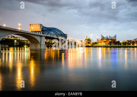 Chattanooga, Tennessee, USA city skyline at dusk. - Stock Photo
