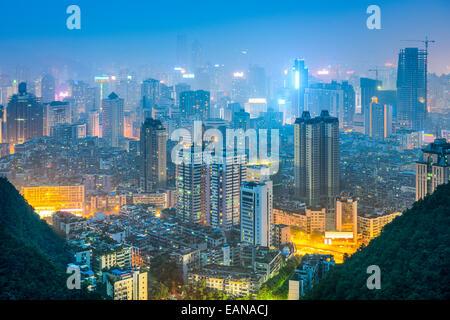 Guiyang, Guizhou, China downtown city skyline. - Stock Photo