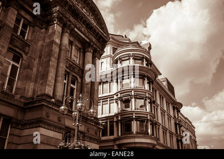 A classy office in an authentic industrial revolution building. Victorian architecture at its finest - Stock Photo