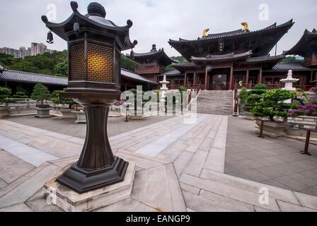 O Convento Chi Lin (chinês tradicional: ????) é um grande complexo de templos budistas localizado em Diamond Hill, - Stock Photo