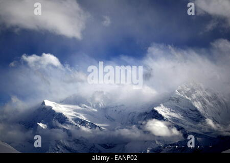 Mountain VIew from Everest Trek - Stock Photo
