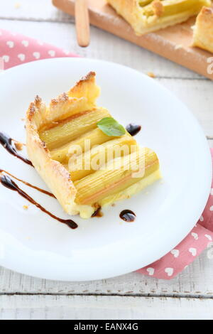Piece Of Rhubarb Pie Stock Photo Royalty Free Image