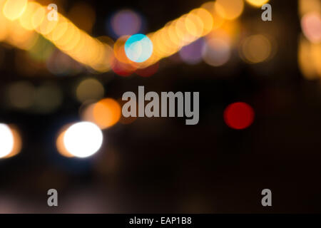 bokeh effekt of lights (background) - Stock Photo