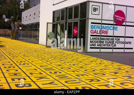 Entrance to the Berlinische Gallery. - Stock Photo