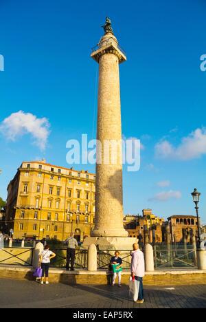 Colonna Traiana, Trajan's Column, Piazza Foro traiano square, Foro di Traiano, Forum Traiani, Trajan's Forum, ancient - Stock Photo