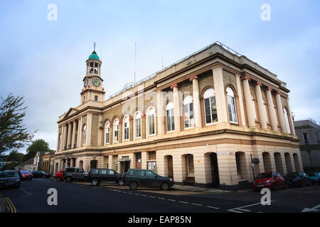 Exterior of the Ryde Theatre with clock tower on the Isle of Wight - Stock Photo