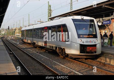 S7 Abellio passenger train, Solingen, Germany. - Stock Photo