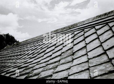 Ancient roof design of underground mosque Sumur Gumuling in Yogyakarta in Java in Indonesia in Southeast Asia Far - Stock Photo