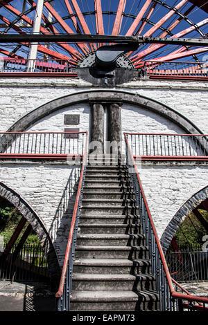 Laxey Wheel, Isle of Man - Stock Photo
