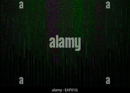Matrix background with the green binary code. - Stock Photo