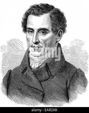 Luigi Carlo Zenobio Salvatore Maria Cherubini, 1760 - 1842, Italian composer, Historische Zeichnung, Portrait von - Stock Photo