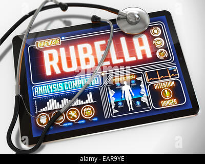 Rubella on the Display of Medical Tablet. - Stock Photo