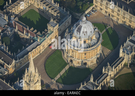 An aerial view of the Radcliffe Camera, a library at Oxford University - Stock Photo