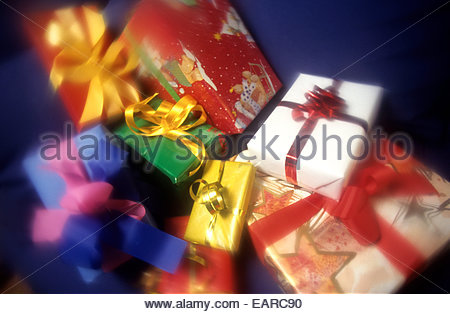 Christmas gifts, France. - Stock Photo