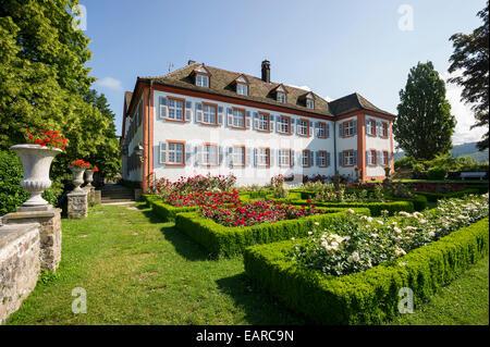 Schloss Buergeln Castle and rose garden, Obereggenen, Schliengen, Baden-Württemberg, Germany - Stock Photo