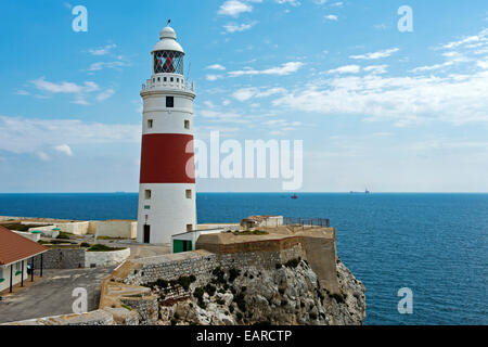 Trinity Lighthouse at Europa Point, Gibraltar, Gibraltar, United Kingdom - Stock Photo