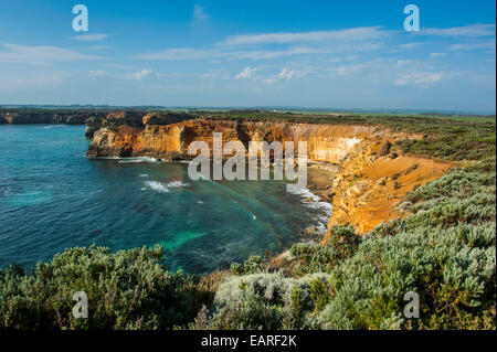 Bay of islands rock formations along the Great Ocean Road, Victoria, Australia - Stock Photo