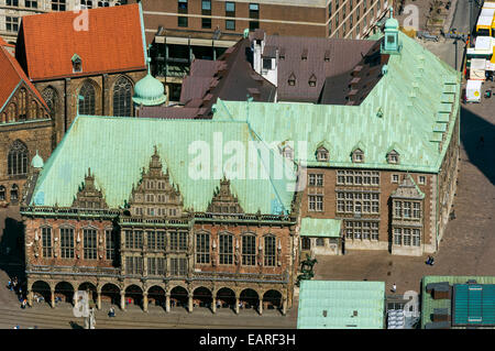 Aerial view, Bremen Town Hall, Bremen, Bremen, Germany