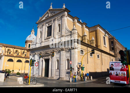 San Rocco church, Tridente, Rome, Italy - Stock Photo