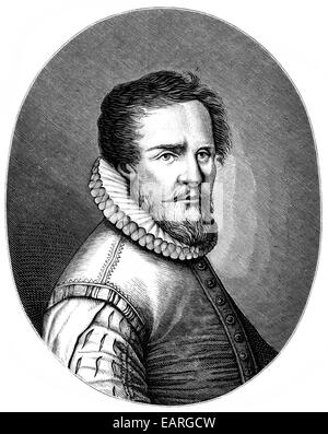 Ludwig Senfl, or Senfli or Sennfel, 1490 - 1543, a Swiss composer, singer, writer and editor , Portrait von Ludwig - Stock Photo