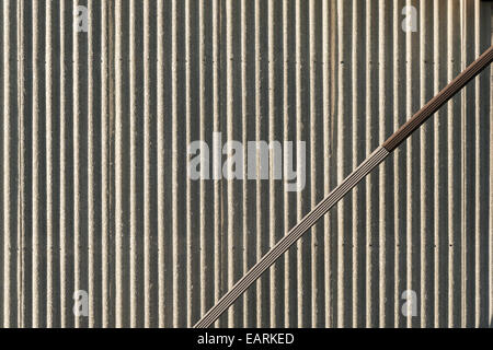 Corrugated Galvanized Metal Wall Surface Texture Stock
