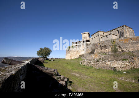 Monterrey Castle, built in the s. XII. The Renaissance palace was built in the s. XVII. - Stock Photo