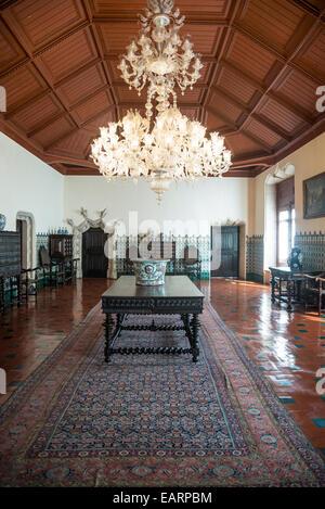National Palace, Interior, Manueline Hall, 16th century, Sintra, Portugal - Stock Photo