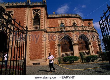 Corso Garibaldi is one of Reggio di Calabria's main arteries. - Stock Photo