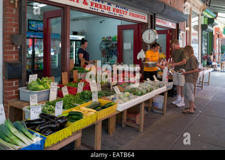The Italian Market - 9th Street, Philadelphia, PA - Stock Photo