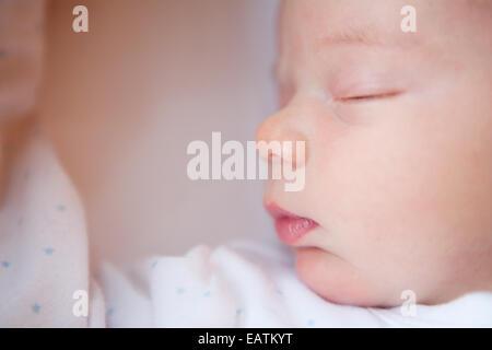 Baby boy asleep - Stock Photo