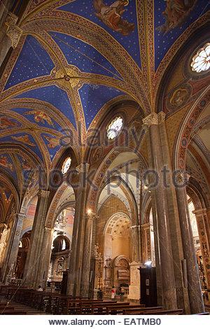 Interior of the Chiesa di Santa Maria Sopra Minerva. - Stock Photo