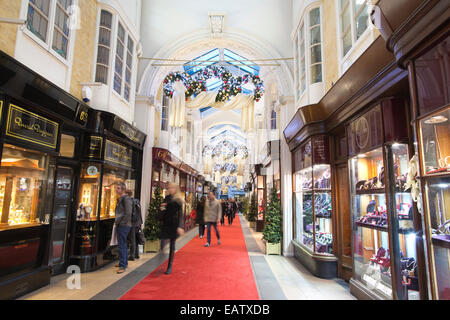 Burlington Arcade, shopping arcade in Mayfair which opened in 1819, London, England, UK - Stock Photo