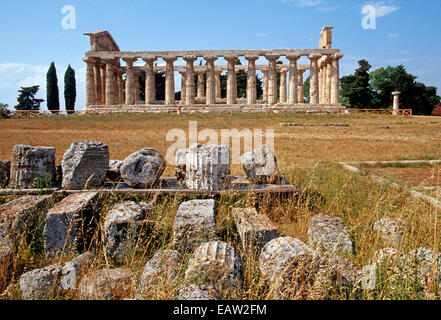 Paestum. Temple of Athena. 6th century BC. Columns. Italy ...