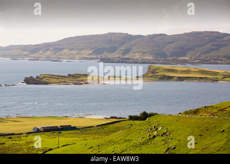 The island of Inch Kenneth in Loch Na Keal, Mull, Scotland, UK. - Stock Photo