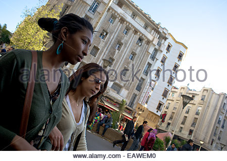 Art Deco architecture reflects French design influence on Casablanca. - Stock Photo