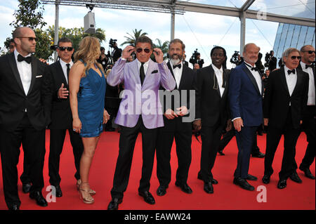 The 67th Annual Cannes Film Festival - 'The Expendables 3' premiere - Arrivals  Featuring: Kelsey Grammer,Dolph - Stock Photo