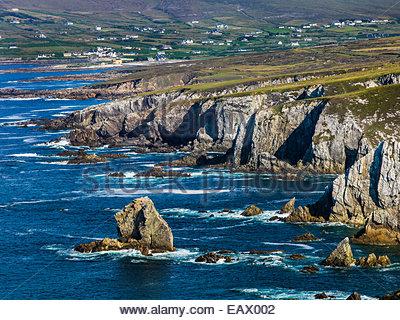 Coastline of Achill Island in County Mayo, Ireland. - Stock Photo