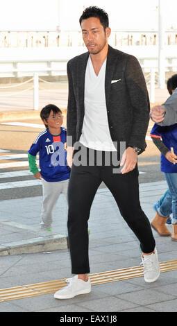Osaka, Japan, on November 19, 2014. 19th Nov, 2014. Maya Yoshida Football/Soccer : Japanese defender Maya Yoshida - Stock Photo