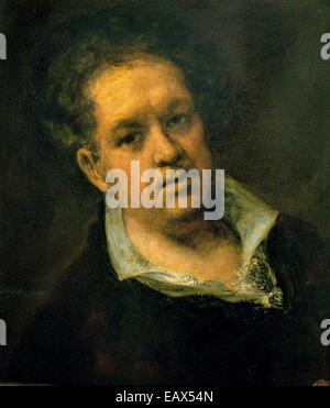 Self portrait at 69 Years 1815 FRANCISCO JOSÉ DE GOYA Y LUCIENTES (1746-1828) Spain Spanish - Stock Photo